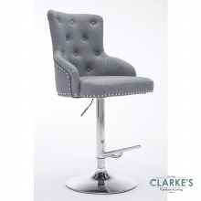 Lois grey fabric bar stool