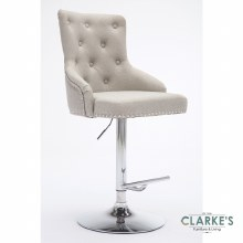 Lois mink fabric bar stool