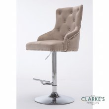 Lois mink velvet bar stool