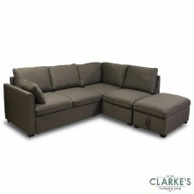 Lucy Corner Sofa Bed with Ottoman Puff