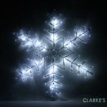 Lumineo 24 LED (50cm) Acrylic Snowflake Light Cool White