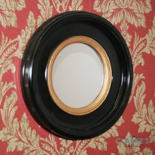 Luna Black Accent Mirror 42cm