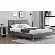 Lyra linen 4ft6 bed frame