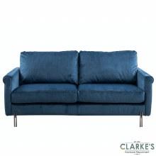 Madison 3 Seater Velvet Sofa Royal Blue