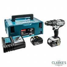 Makita LXT 18V Cordless Combi Drill with 2 x 5.0 Ah Batteries