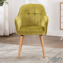 Manhattan green velvet accent chair