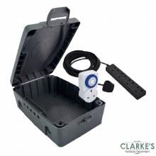 Masterplug IP54 Waterproof Box, 8m Extension Lead & Timer