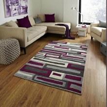 Matrix Grey/Purple Rug