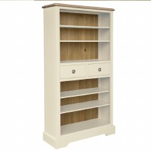 Meghan Oak Bookcase with Drawers