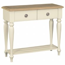 Meghan Oak Console Table with 2 Drawers
