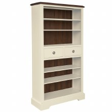 Meghan Walnut Bookcase with Drawers
