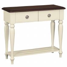 Meghan Walnut Console Table with 2 Drawers
