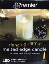 Premier LED Melted Edge Candle 13cm