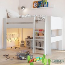 Memphis white mid sleeper bed