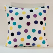 Merry Polka Dot Purple Cushion