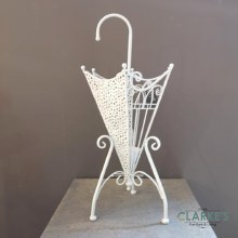 Metal Brolly Stand White