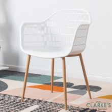 Metro Accent Chair White