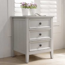 Mila Grey 3 Drawer Bedside Locker