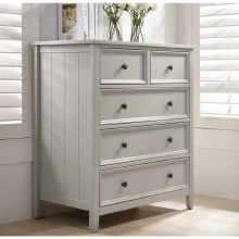 Mila Grey 2 over 3 Drawer Tall Chest