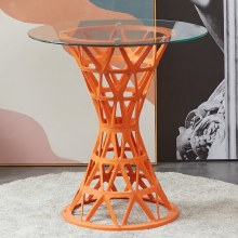 Millie Trellis Garden Table Orange H 73 cm