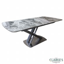 Mirage ceramic extending dining table
