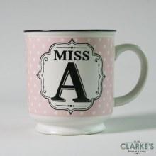 """Miss A"" Alphabet Mug"