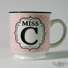 """Miss C"" Alphabet Mug"
