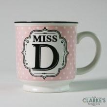 """Miss D"" Alphabet Mug"