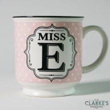 """""""Miss E"""" Alphabet Mug"""