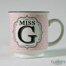 """""""Miss G"""" Alphabet Mug"""