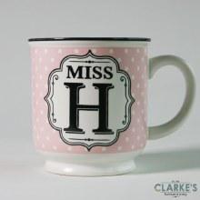 """""""Miss H"""" Alphabet Mug"""