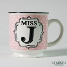 """""""Miss J"""" Alphabet Mug"""