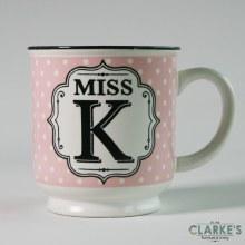 """""""Miss K"""" Alphabet Mug"""