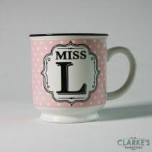 """""""Miss L"""" Alphabet Mug"""