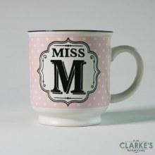 """""""Miss M"""" Alphabet Mug"""