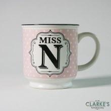 """""""Miss N"""" Alphabet Mug"""