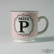 """Miss P"" Alphabet Mug"