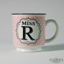 """Miss R"" Alphabet Mug"