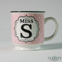 """Miss S"" Alphabet Mug"