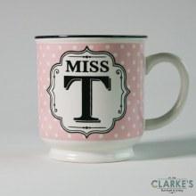 """Miss T"" Alphabet Mug"