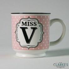 """""""Miss V"""" Alphabet Mug"""