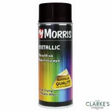 Morris Metallic Spray Paint Black 400 ml