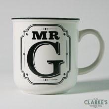 """""""Mr G"""" Alphabet Mug"""