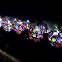 Solar String 10 Multi Glow Gems