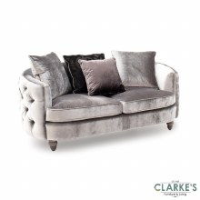 Nicolette luxury pewter 2 seater sofa