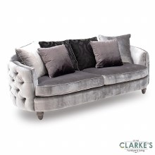 Nicolette luxury pewter 3 seater sofa