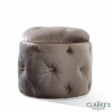 Nicolette pewter buttoned footstool