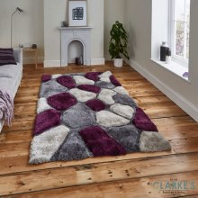 Noble House NH5858 Purple Rug