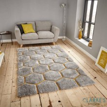 Noble House Rug NH30782 Grey / Yellow 150 x 230cm