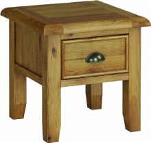 Odyssey Oak Lamp Table with Drawer